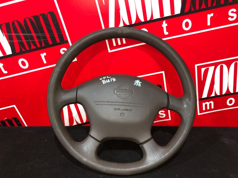 Руль Nissan Bluebird EU14 SR18DE 1996 коричневый