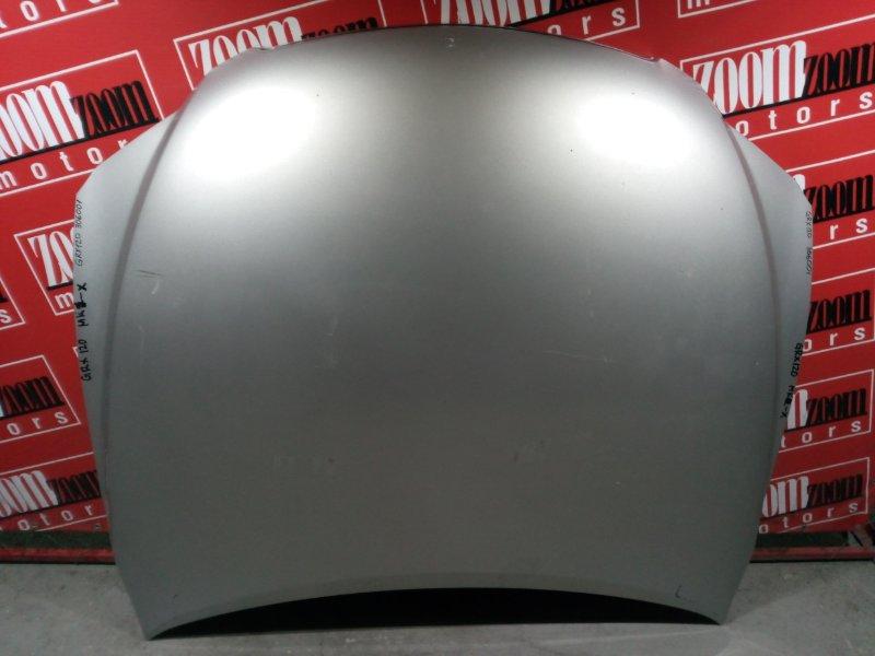 Капот Toyota Mark X GRX120 4GR-FSE 2004 передний серебро