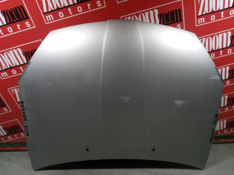 Капот Nissan Wingroad WFY11 QG15DE 2002 передний серебро