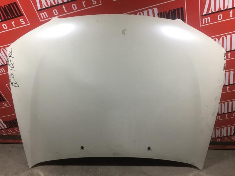 Капот Nissan Bluebird Sylphy QG10 QG18DE 2000 передний белый перламутр