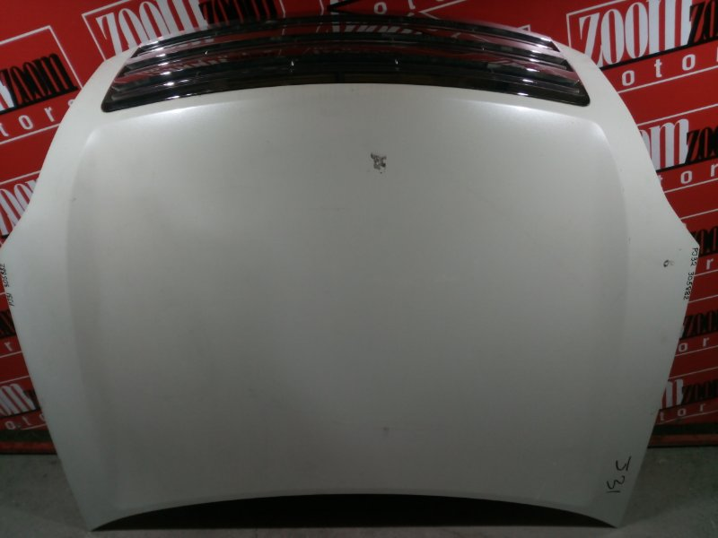 Капот Nissan Teana PJ31 VQ35DE 2003 передний белый перламутр