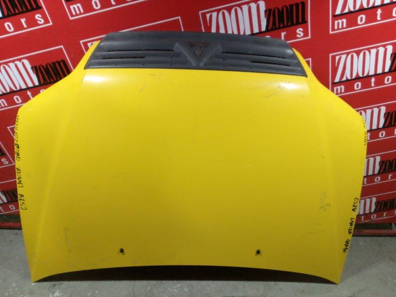 Капот Mitsubishi Lancer CS2V 4G15 2003 передний жёлтый