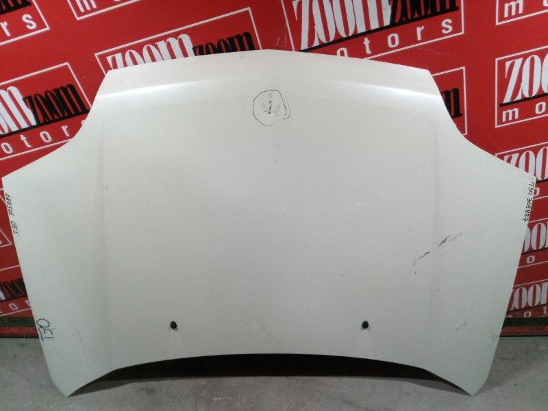 Капот Nissan X-Trail T30 QR20DE `2001 передний белый перламутр