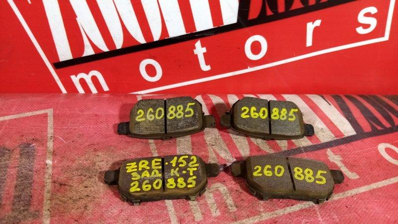 Колодки тормозные Toyota Corolla Rumion ZRE152 2ZR-FE 2006 задние