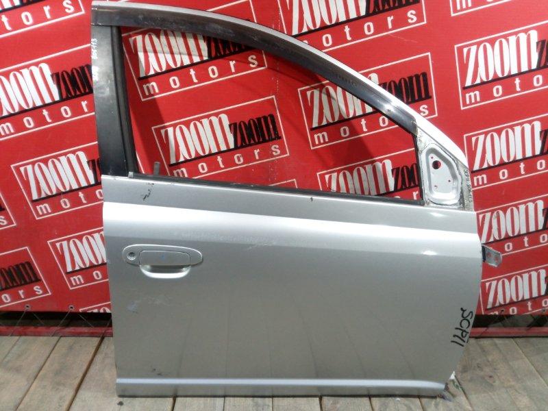 Дверь боковая Toyota Platz SCP11 1SZ-FE 1999 передняя правая серебро