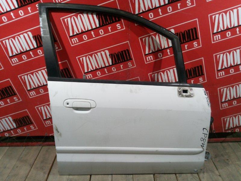 Дверь боковая Mazda Premacy CP8W FP-DE 1998 передняя правая белый