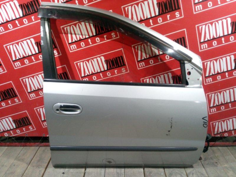 Дверь боковая Nissan Tino V10 SR18DE 1998 передняя правая серебро