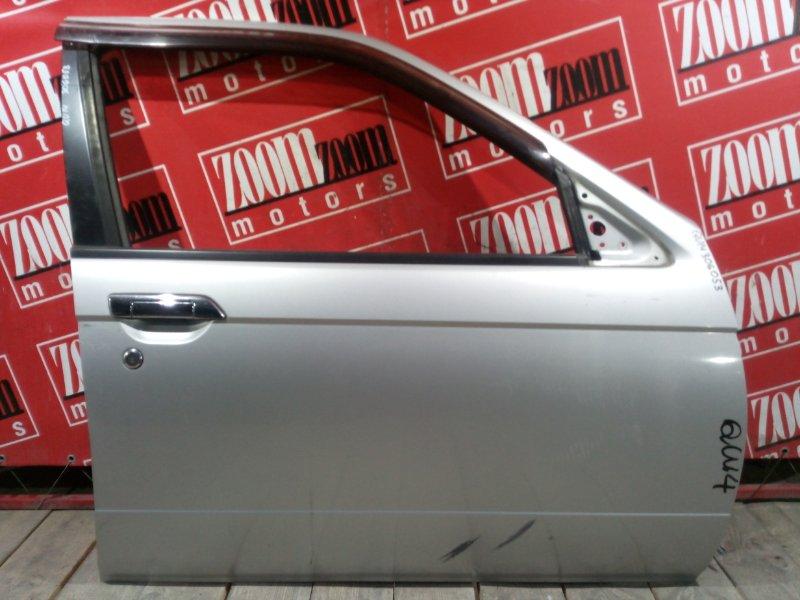 Дверь боковая Nissan Bluebird QU14 QG18DE 1996 передняя правая серебро