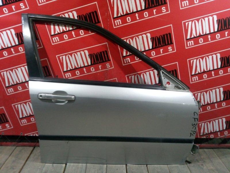 Дверь боковая Honda Accord CF3 F18B 1997 передняя правая серебро