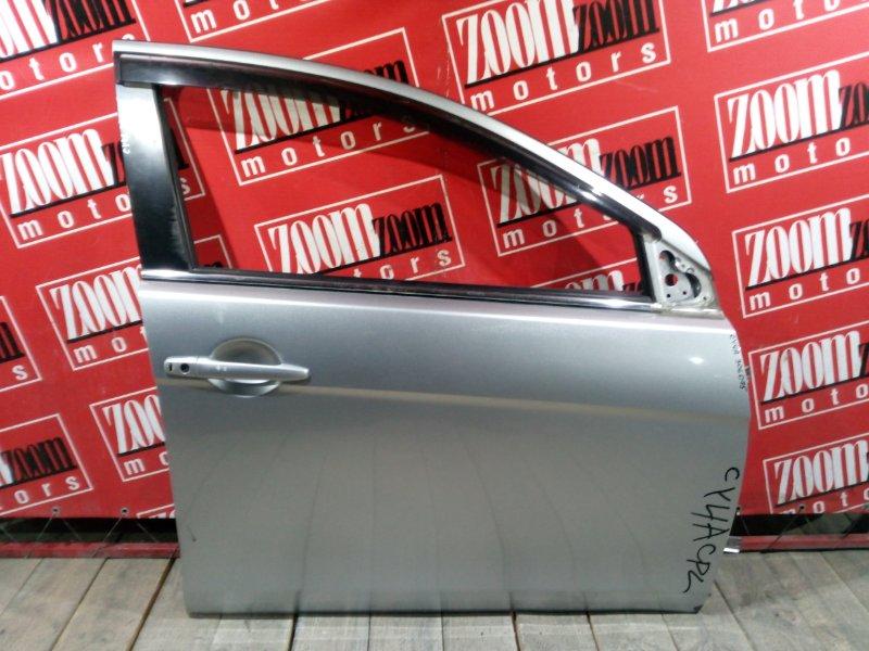Дверь боковая Mitsubishi Lancer X CY4A 4B11 2007 передняя правая серебро