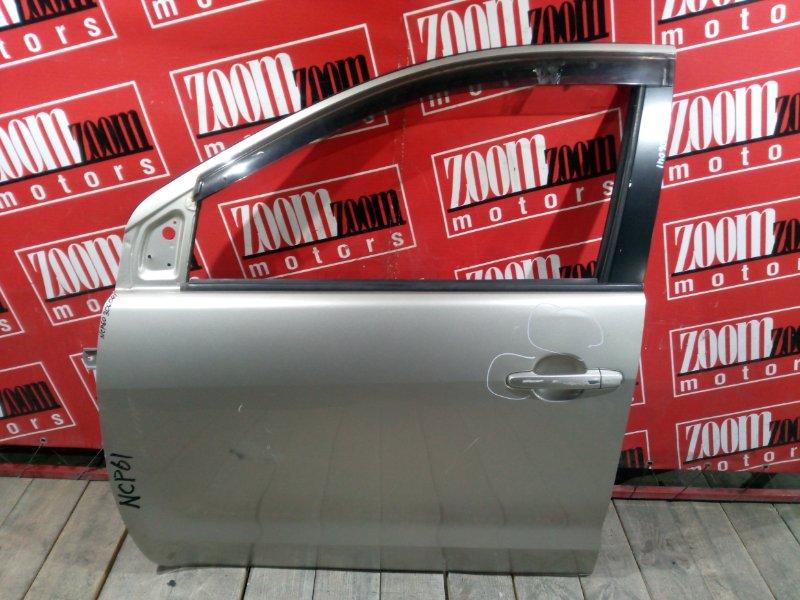 Дверь боковая Toyota Ist NCP60 2NZ-FE 2002 передняя левая золото