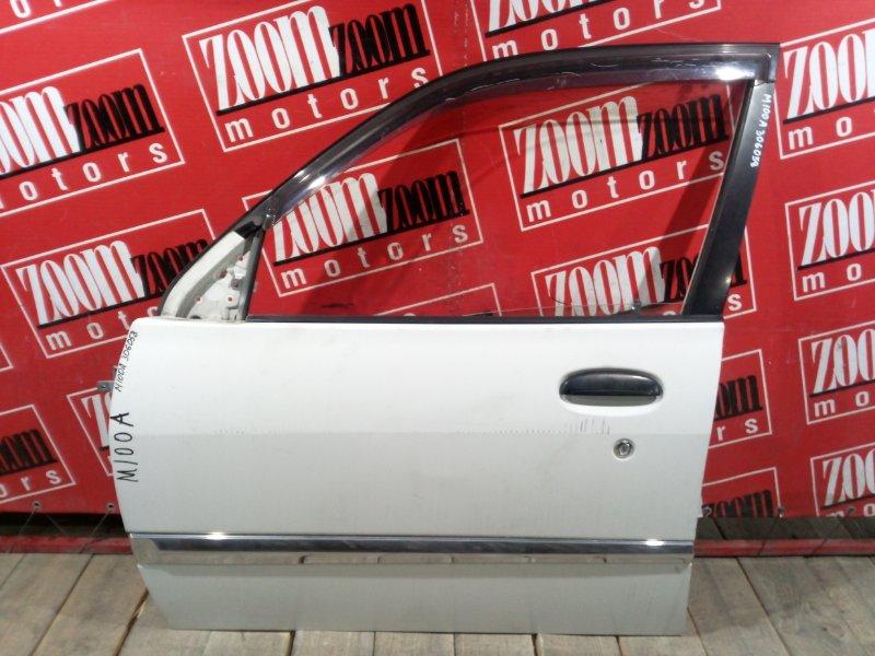 Дверь боковая Toyota Duet M100A EJ-DE 1998 передняя левая белый