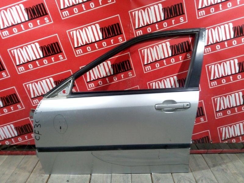 Дверь боковая Honda Accord CF3 F18B 1997 передняя левая серебро