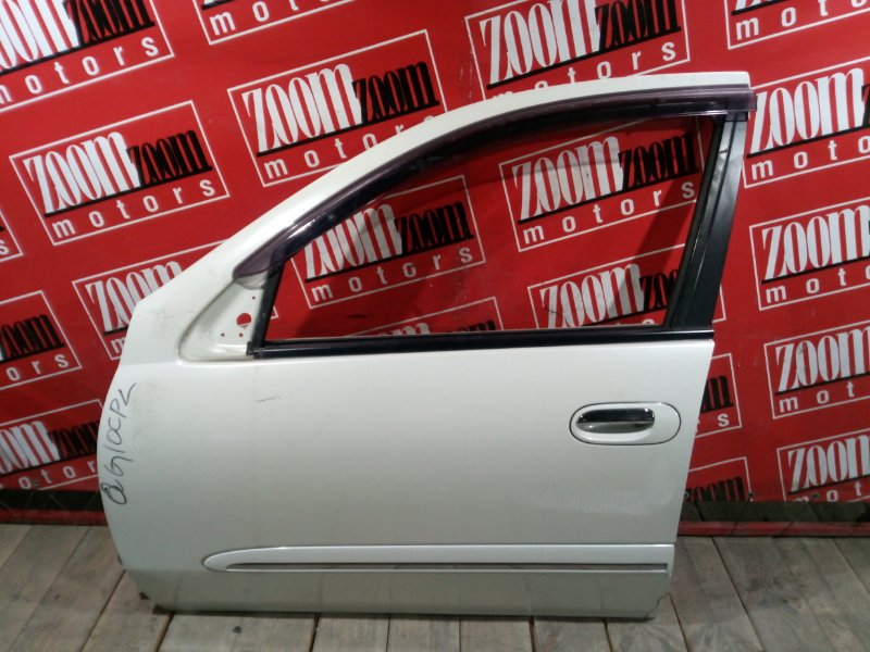 Дверь боковая Nissan Bluebird Sylphy QG10 QG18DE 2003 передняя левая белый перламутр