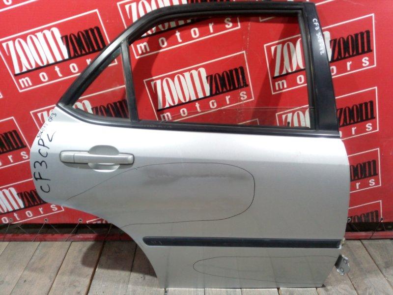 Дверь боковая Honda Accord CF3 F18B 1997 задняя правая серебро