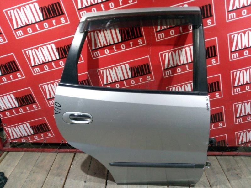 Дверь боковая Nissan Tino V10 SR18DE 1998 задняя правая серебро