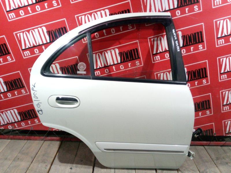Дверь боковая Nissan Bluebird Sylphy QG10 QG18DE 2003 задняя правая белый перламутр