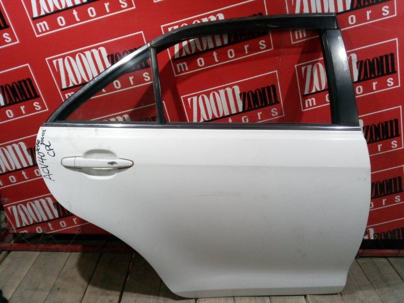 Дверь боковая Toyota Camry ACV40 2AZ-FE 2006 задняя правая белый