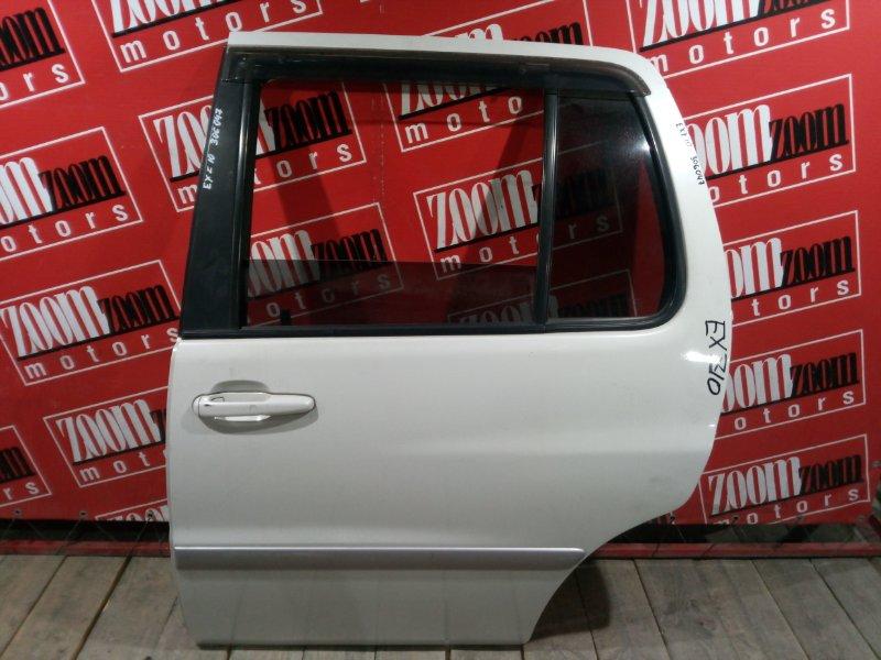 Дверь боковая Toyota Raum EXZ10 5E-FE 1997 задняя левая белый перламутр