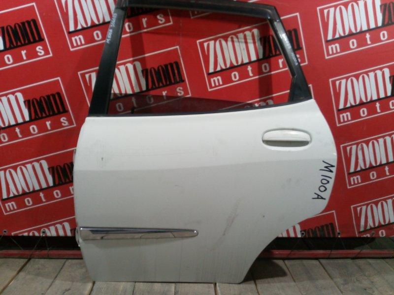 Дверь боковая Toyota Duet M100A EJ-DE 1998 задняя левая белый