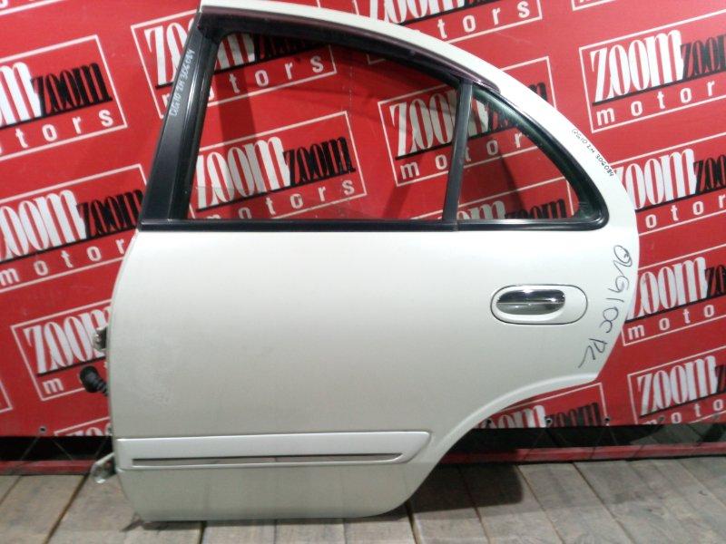 Дверь боковая Nissan Bluebird Sylphy QG10 QG18DE 2003 задняя левая белый перламутр
