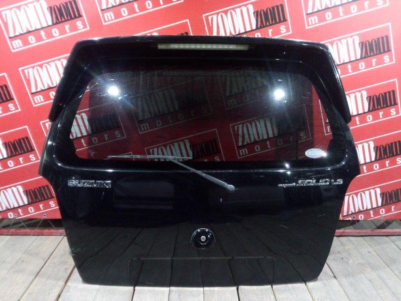 Дверь задняя багажника Suzuki Wagon R Solio MA34S M13A 2000 задняя черный