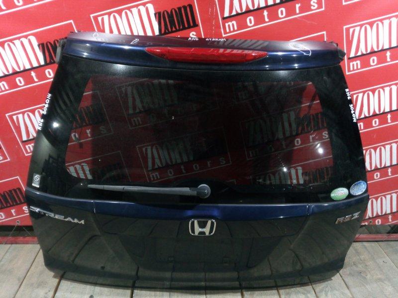 Дверь задняя багажника Honda Stream RN6 R18A 2006 задняя синий