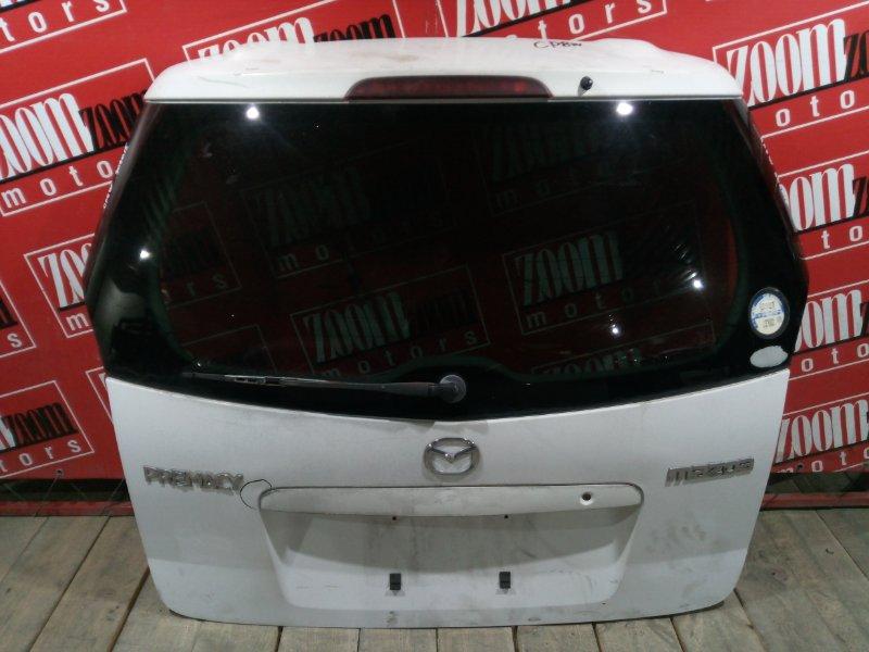 Дверь задняя багажника Mazda Premacy CP8W FP-DE 1998 задняя белый