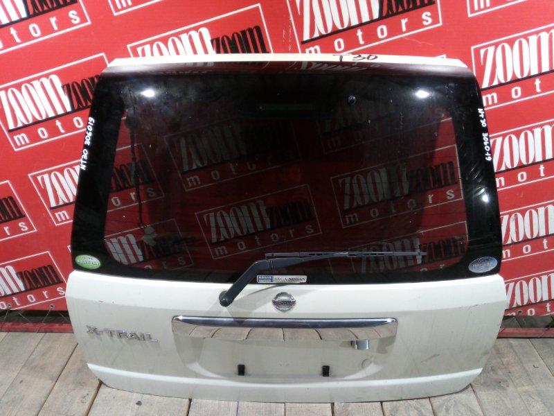 Дверь задняя багажника Nissan X-Trail NT30 QR20DE `2001 задняя белый перламутр