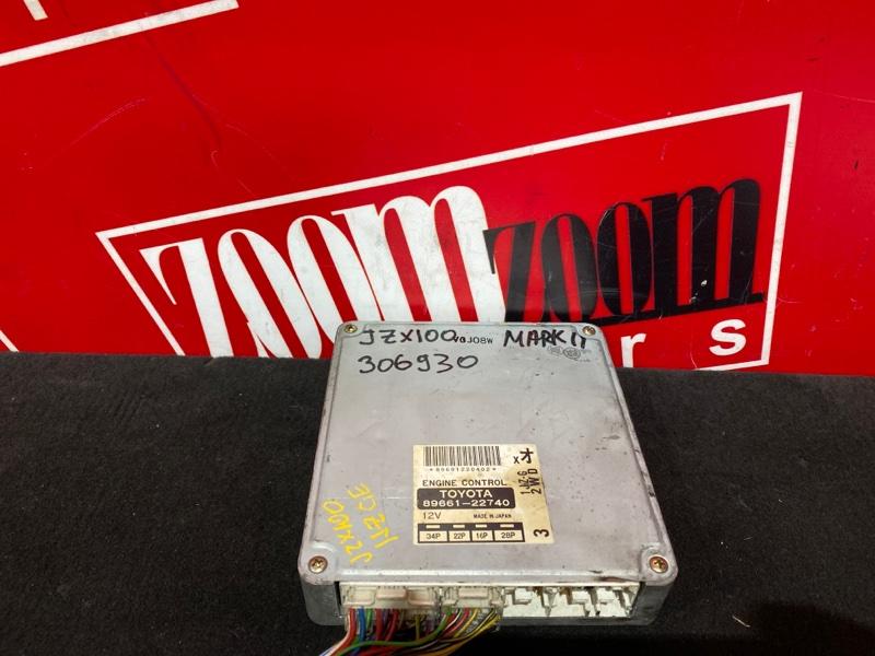Компьютер (блок управления) Toyota Mark Ii JZX100 1JZ-GE 1996 89661-22740