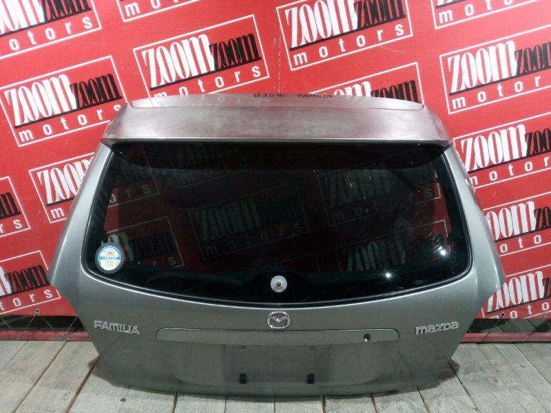 Дверь задняя багажника Mazda Familia BJ5W ZL-DE 1998 задняя серый