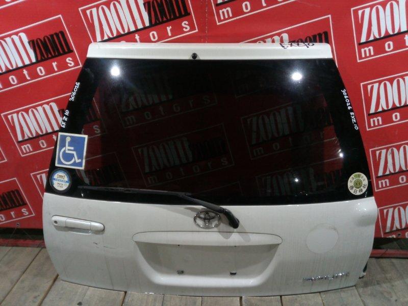 Дверь задняя багажника Toyota Raum EXZ10 5E-FE 1997 задняя белый перламутр