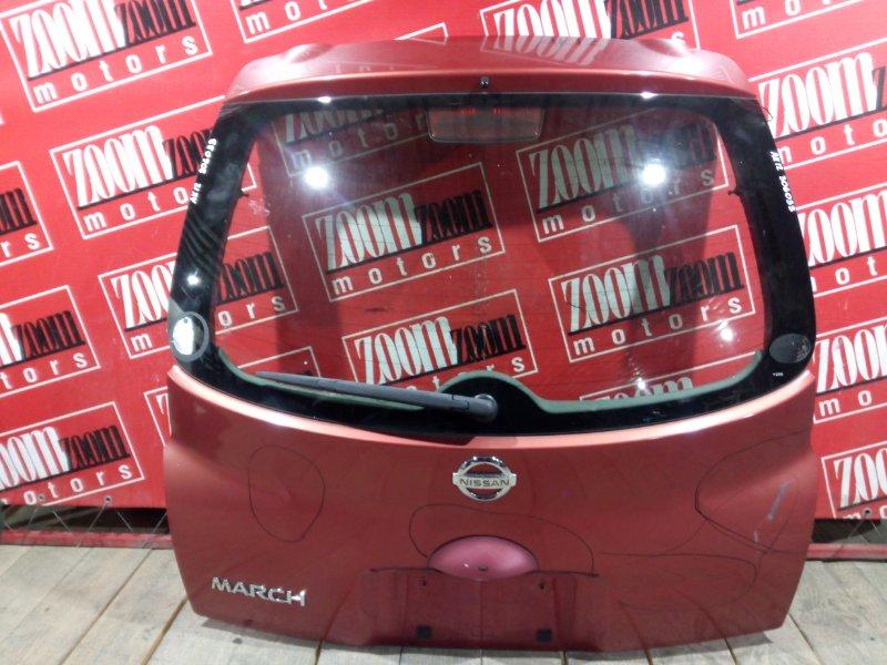 Дверь задняя багажника Nissan March AK12 CR12DE 2002 задняя оранжевый