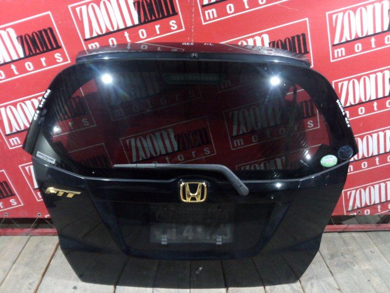 Дверь задняя багажника Honda Fit GE6 L13A 2005 задняя черный