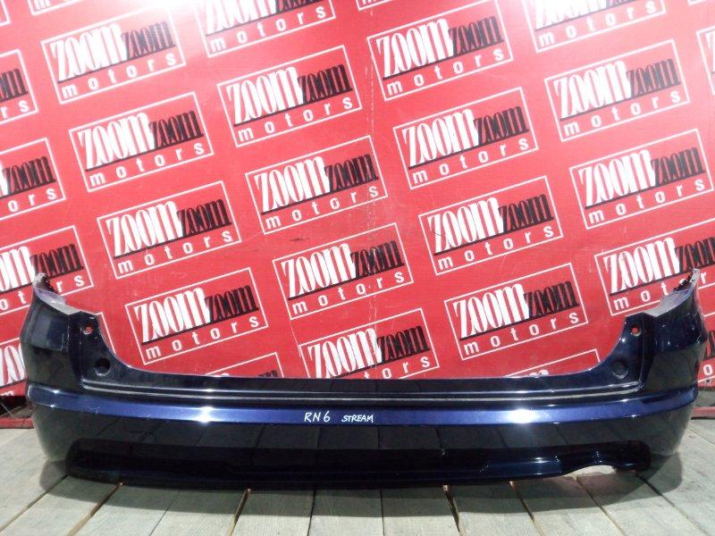 Бампер Honda Stream RN6 R18A 2006 задний синий