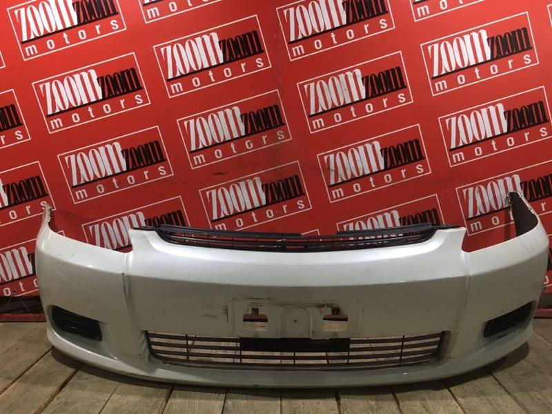 Бампер Toyota Wish ZNE10 1ZZ-FE 2003 передний белый перламутр