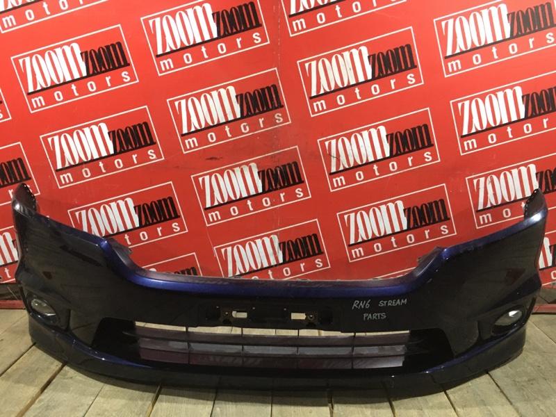 Бампер Honda Stream RN6 R18A 2006 передний синий