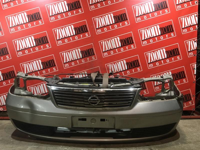 Бампер Nissan Sunny FB15 QG15DE 2002 передний серебро