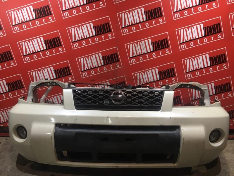 Бампер Nissan X-Trail T30 QR20DE `2001 передний белый перламутр