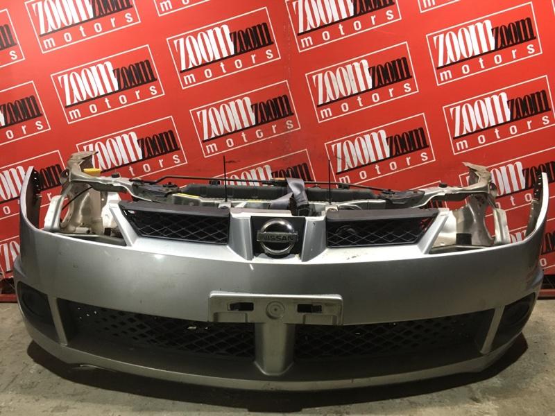 Бампер Nissan Wingroad WFY11 QG15DE 2002 передний серебро