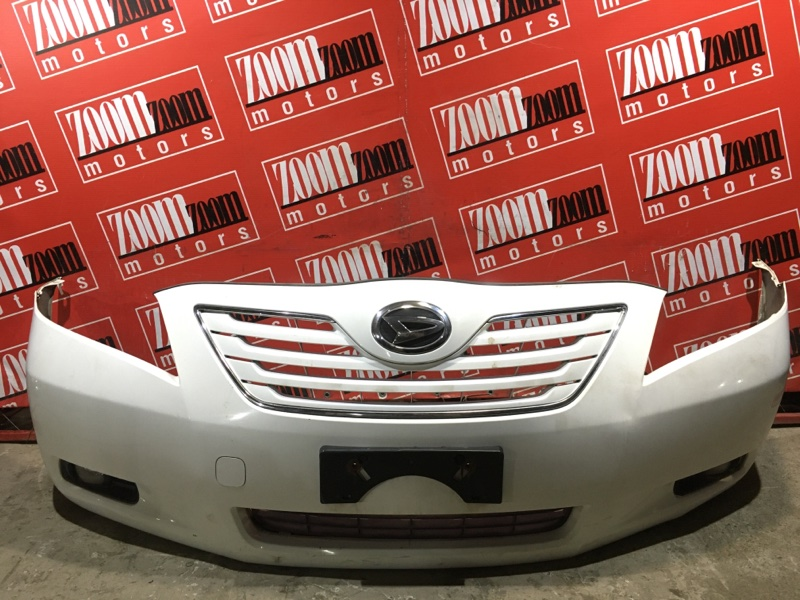 Бампер Toyota Camry ACV40 2AZ-FE 2006 передний белый