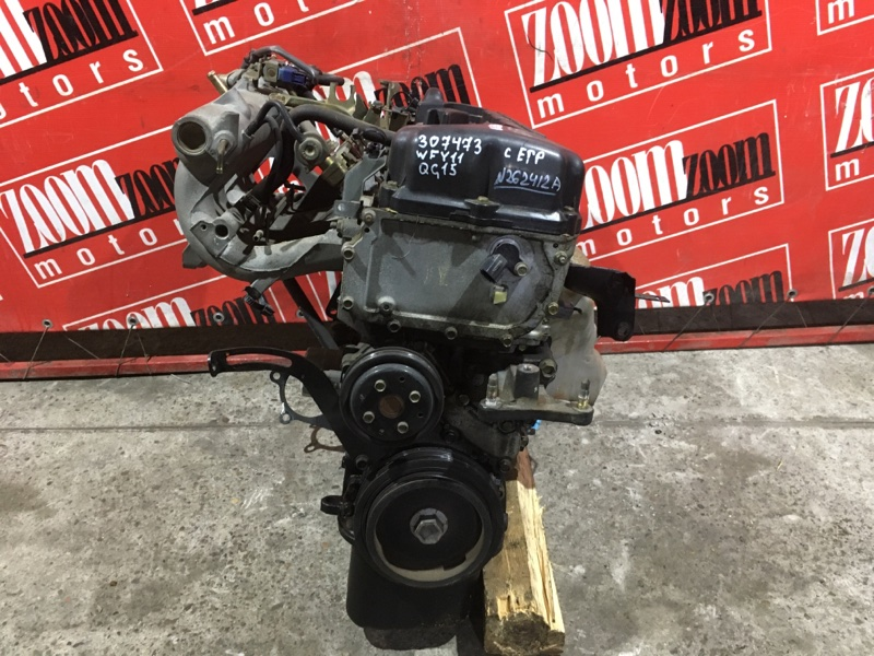 Двигатель Nissan Wingroad WFY11 QG15DE 1998 №262412A