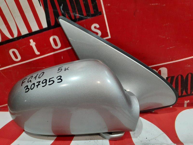 Зеркало боковое Nissan Bluebird Sylphy FG10 QG15DE 2000 переднее правое серебро