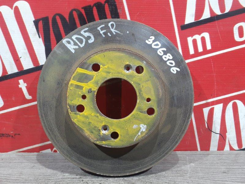 Диск тормозной Honda Cr-V RD5 K20A 2001 передний правый