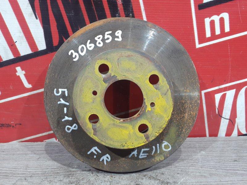 Диск тормозной Toyota Sprinter AE110 5A-FE 1997 передний правый