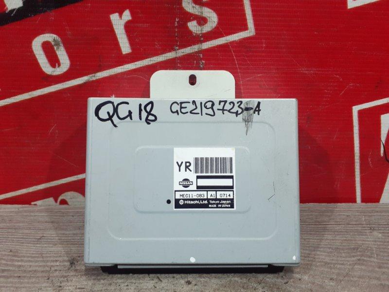 Компьютер (блок управления) Nissan Bluebird Sylphy QG10 QG18DE 2000 MEC11-083 AI0714