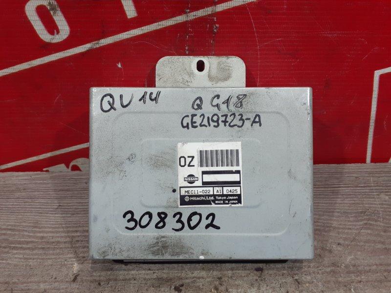 Компьютер (блок управления) Nissan Bluebird QU14 QG18DE 1996 MEC11-022 A1 0425