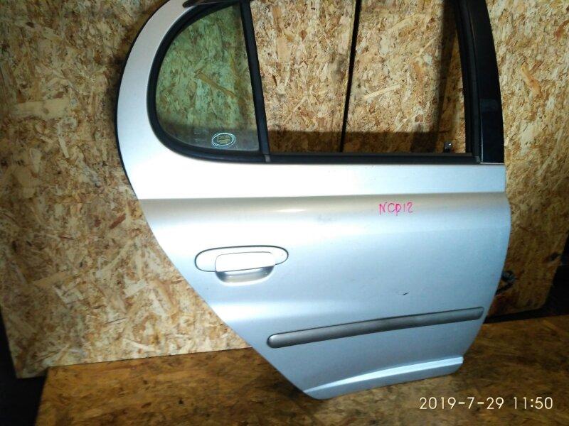 Дверь боковая Toyota Platz NCP12 1NZ-FE 2000 задняя правая