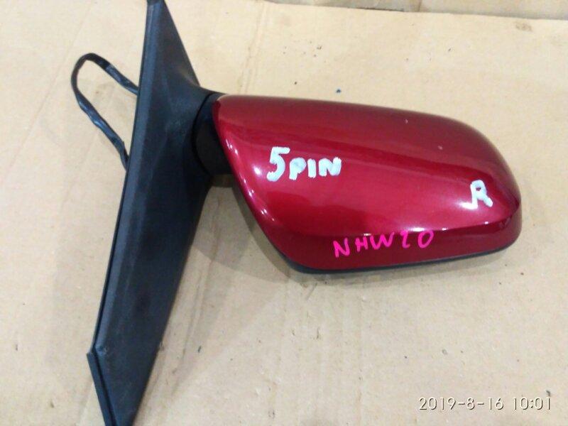 Зеркало боковое Toyota Prius NHW20 1NZ-FXE 2004 переднее правое