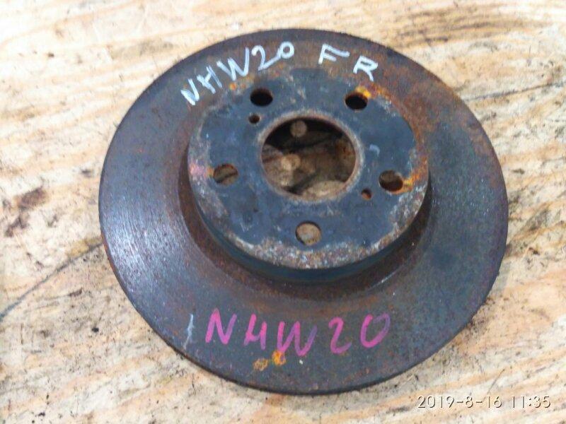 Диск тормозной Toyota Prius NHW20 1NZ-FXE 2004 передний правый
